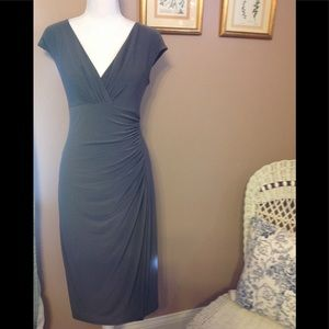 NWOT Lauren Ralph Lauren gray fitted dress.